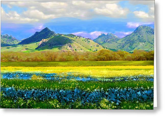 Sutter Buttes In Spring Greeting Card