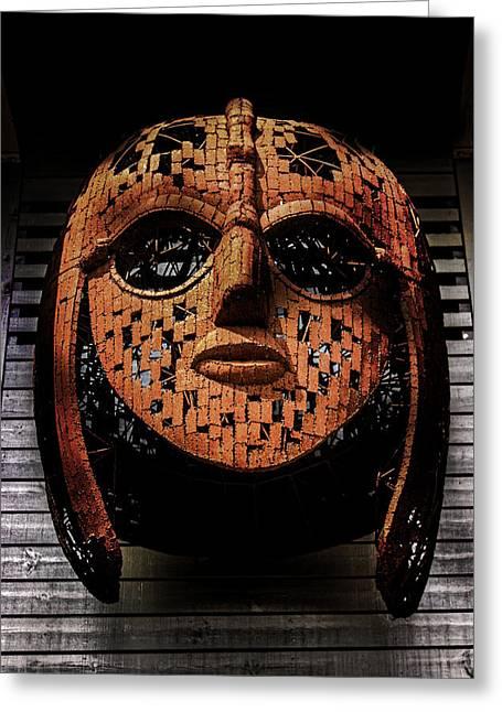 Sutton Hoo - Saxon Mask Greeting Card