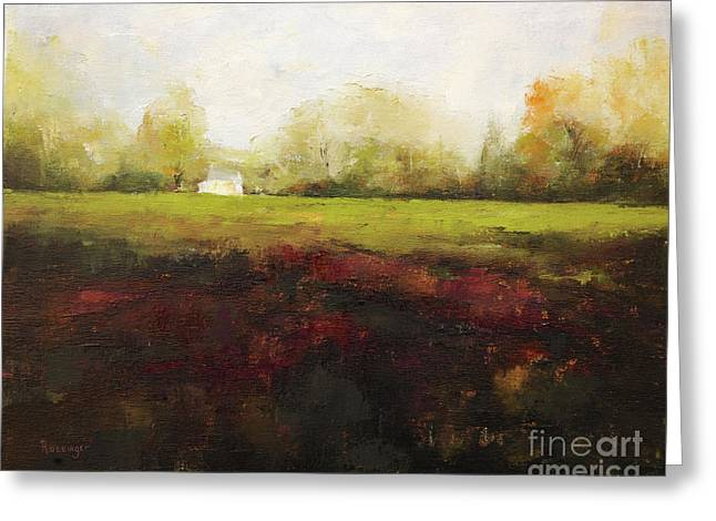 Sutton Road Farm Greeting Card by Cindy Roesinger