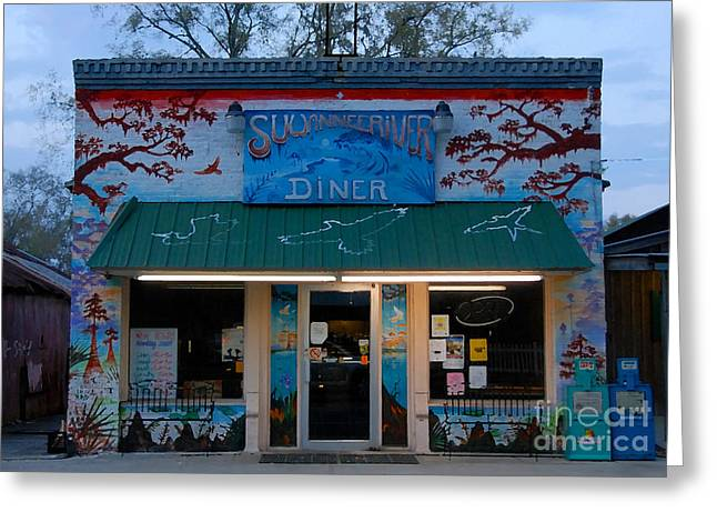 Suwannee River Diner Greeting Card by David Lee Thompson