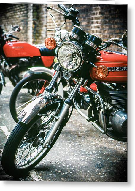 Greeting Card featuring the photograph Suzuki by Samuel M Purvis III