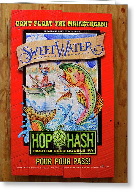 Sweetwater Beer Sign Greeting Card by David Lee Thompson