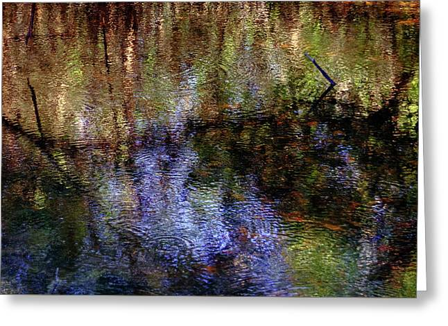 Swamp Abstract Greeting Card by Greg Mimbs
