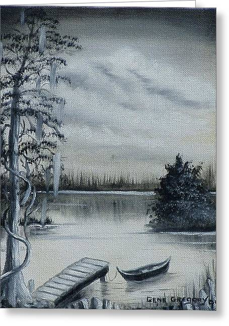 Swamp Boat Greeting Card