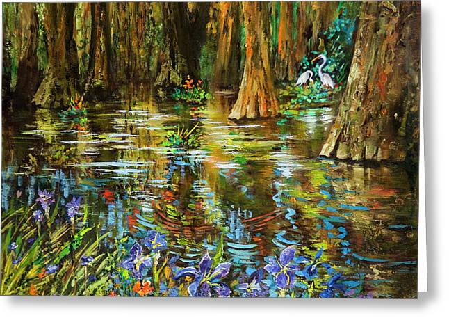 Swamp Iris Greeting Card by Dianne Parks