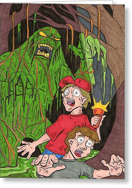Swamp Monster Greeting Card by Anthony Snyder