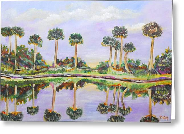 Swamp Palms Greeting Card