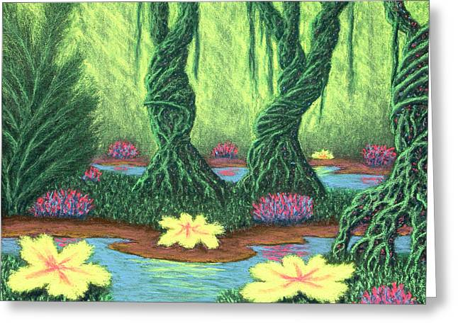 Swamp Things 02, Diptych Panel A Greeting Card