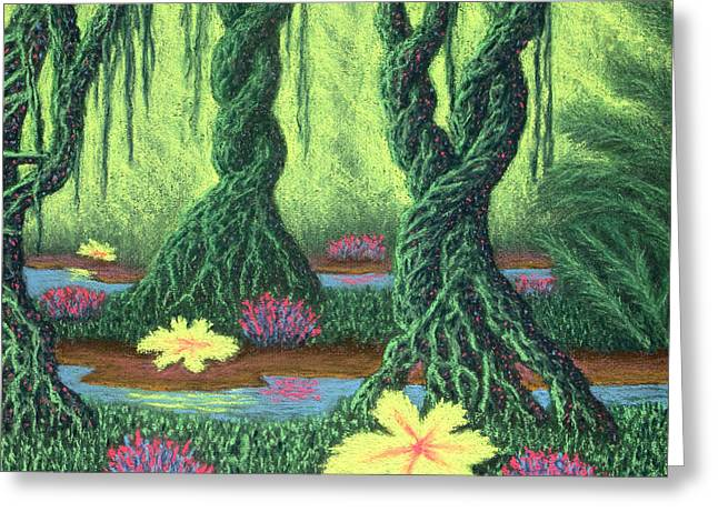 Swamp Things 02, Diptych Panel B Greeting Card