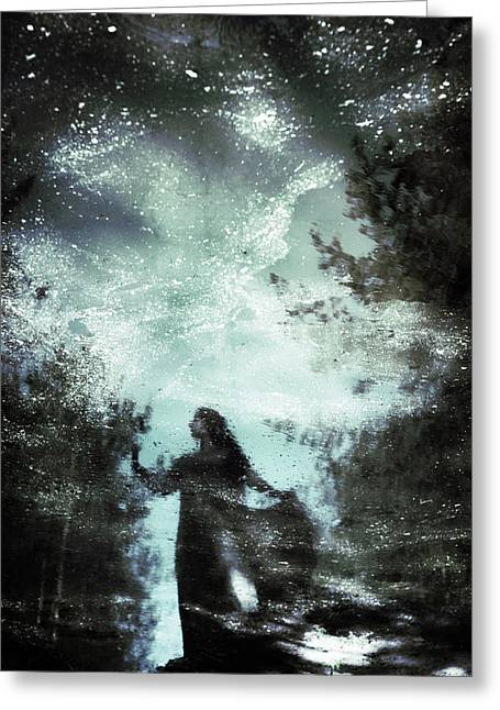 Swamp Witch Greeting Card by Cambion Art