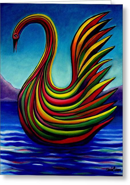 Swan #2 Greeting Card by Chris Boone