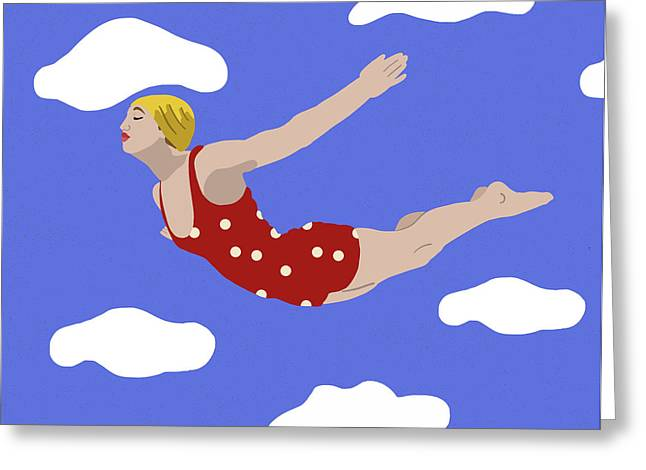 Swan Dive Greeting Card