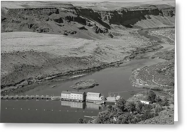 Swan Falls Dam Greeting Card