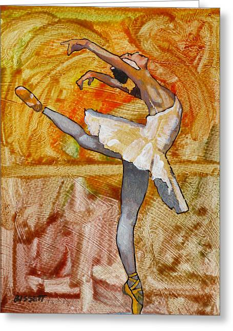 Swan Lake 2 Greeting Card by Robert Bissett