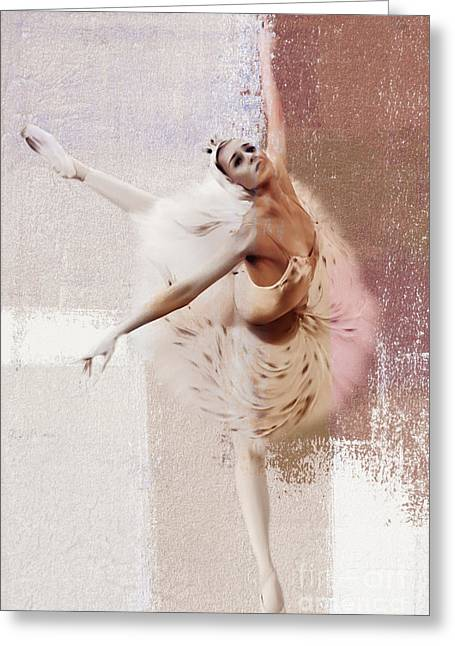 Swan Lake Dance  Greeting Card by Gull G