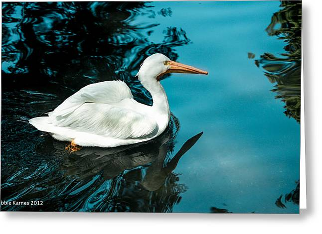 Swan Lake Greeting Card by Debbie Karnes