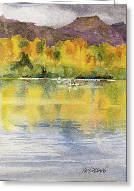 Swan Lake Greeting Card by Kris Parins