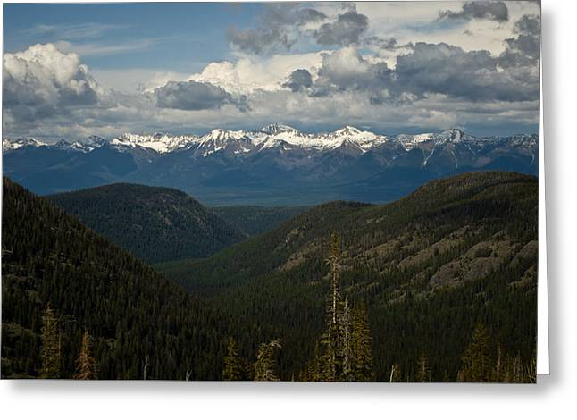 Swan Mountain Range Greeting Card