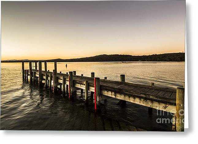 Swan River Jetty Greeting Card