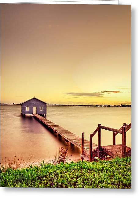 Swan River Greeting Card by Jimmy Chong