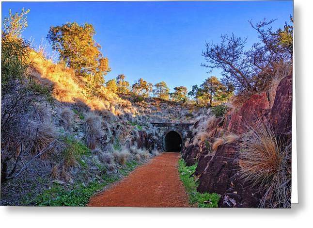 Swan View Railway Tunnel Greeting Card