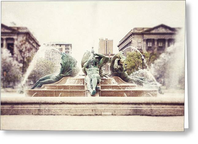 Swann Memorial Fountain Greeting Card by Lisa Russo