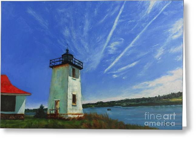 Swans Island Lighthouse Greeting Card