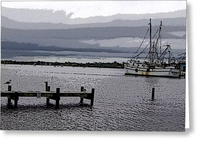 Swansboro Harbor Greeting Card by Skyler Tipton