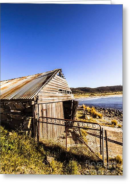 Swansea Boat Shack Greeting Card by Jorgo Photography - Wall Art Gallery