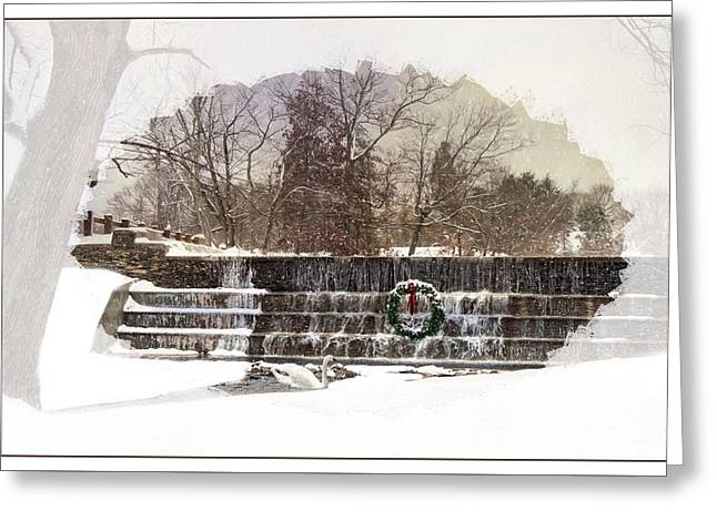 Greeting Card featuring the photograph Swansea Dam At Christmas by Robin-lee Vieira
