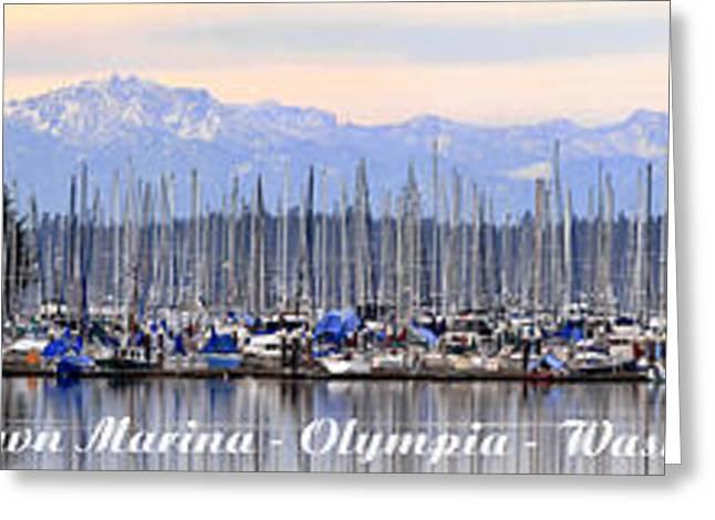 Swantown Marina Olympia Wa Greeting Card by Larry Keahey