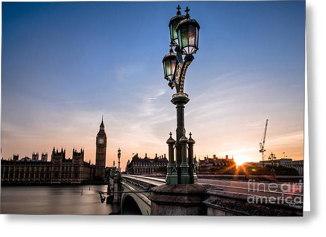 Swapping Lights Greeting Card by Giuseppe Torre