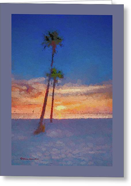 Swaying Palms Greeting Card by Marvin Spates