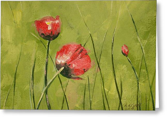 Swaying Poppies Greeting Card