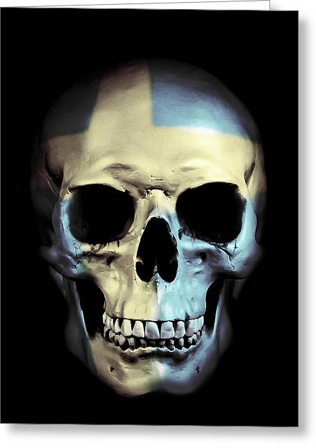 Swedish Skull Greeting Card by Nicklas Gustafsson