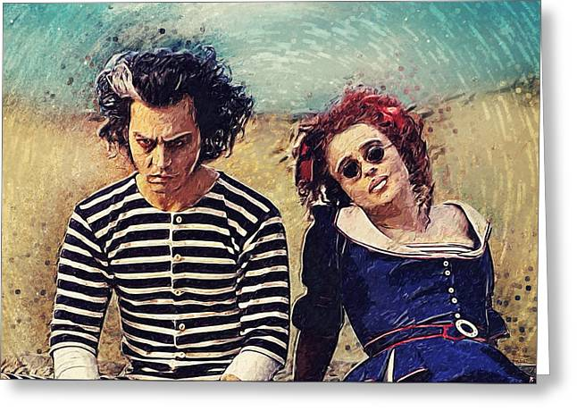 Sweeney Todd And Mrs. Lovett Greeting Card by Taylan Apukovska