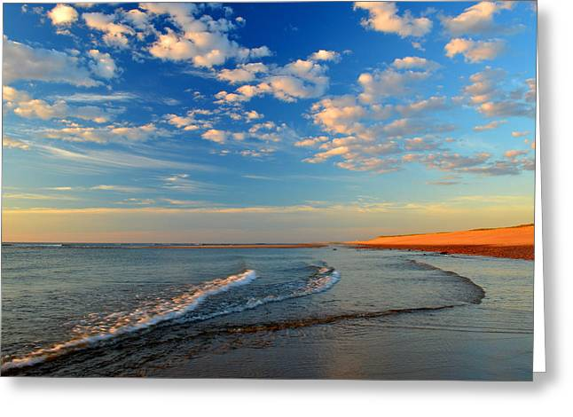 Sweeping Ocean View Greeting Card by Dianne Cowen