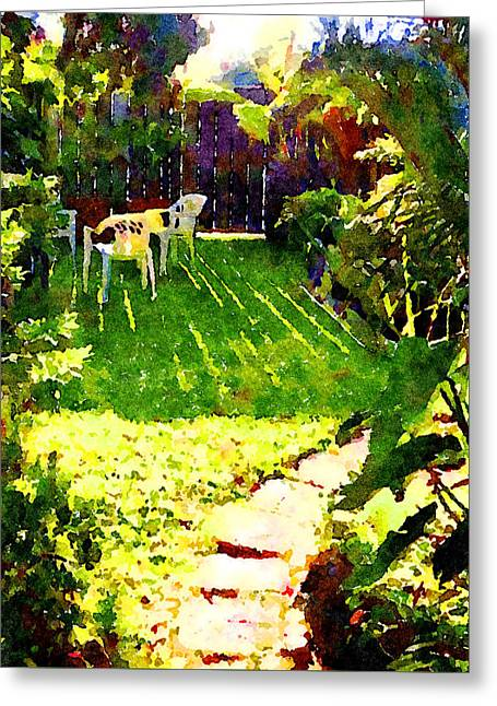 Greeting Card featuring the painting Sweet Afternoon by Angela Treat Lyon