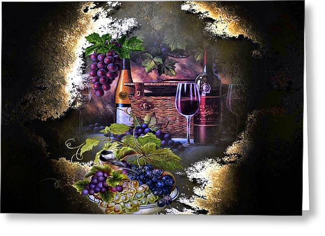 Sweet Cabernet 003 Greeting Card by G Berry