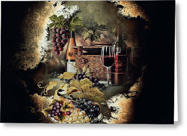 Sweet Cabernet 004 Greeting Card by G Berry