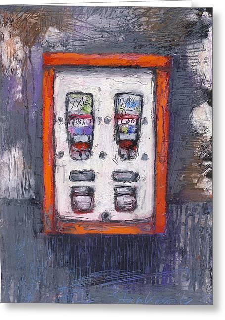 Sweet Childhood Memories,bubblegum Machine Greeting Card by Martin Stankewitz