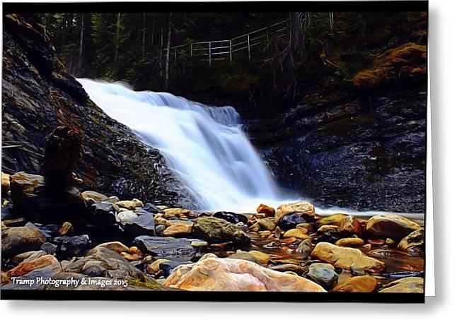 Sweet Creek Falls , Wa Greeting Card