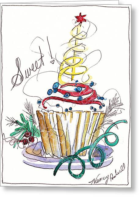 Sweet Cupcake Greeting Card by Michele Hollister - for Nancy Asbell