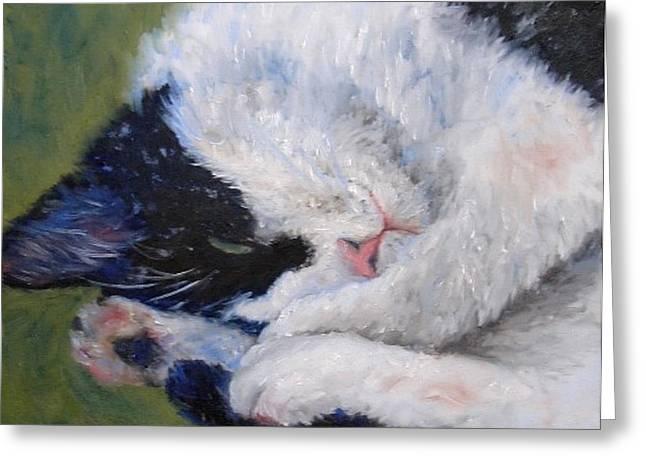 Sweet Dreams Greeting Card by Debra Mickelson