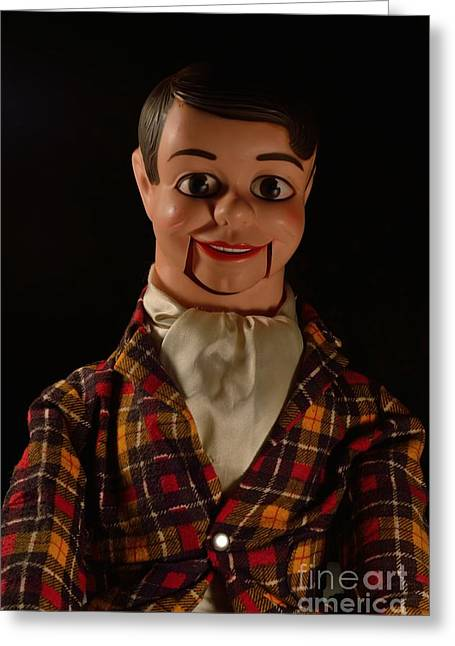 Danny O'day Ventriloquist Dummy Greeting Card by D S Images