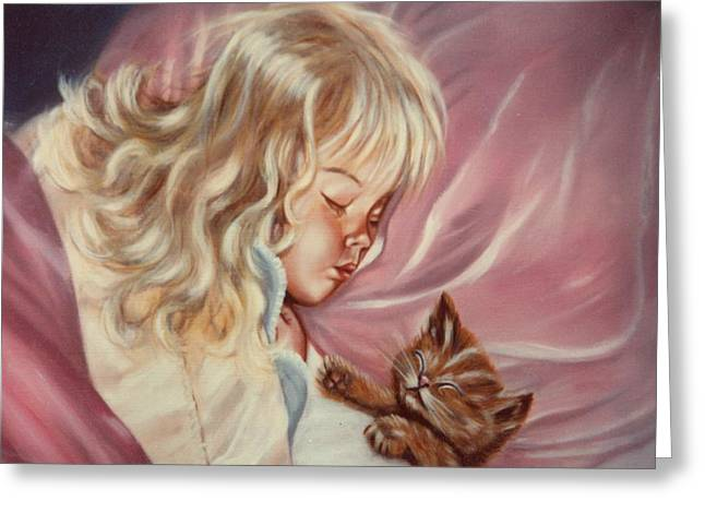 Greeting Card featuring the painting Sweet Dreams by Joni McPherson