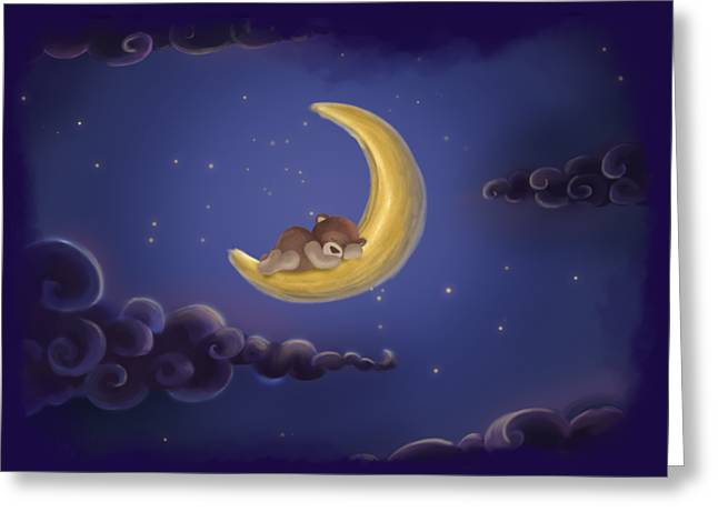 Greeting Card featuring the drawing Sweet Dreams by Julia Art