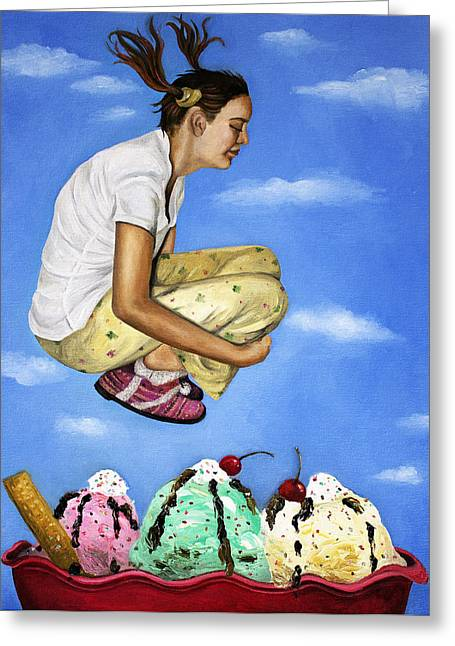 Sweet Dreams Greeting Card by Leah Saulnier The Painting Maniac