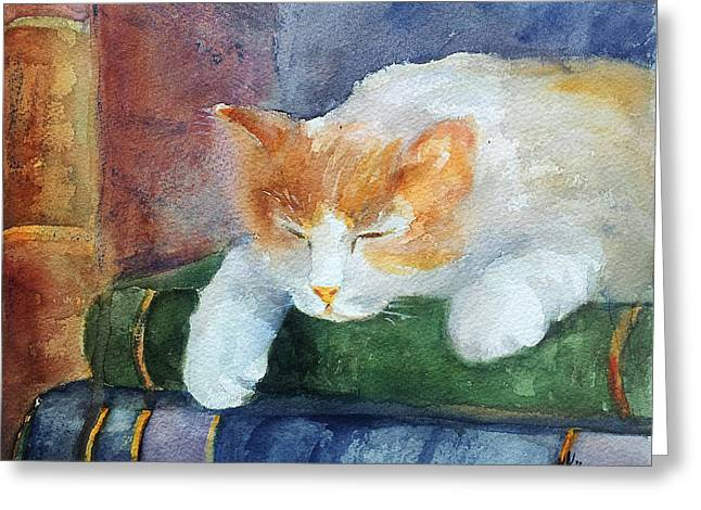 Sweet Dreams On The Books Greeting Card