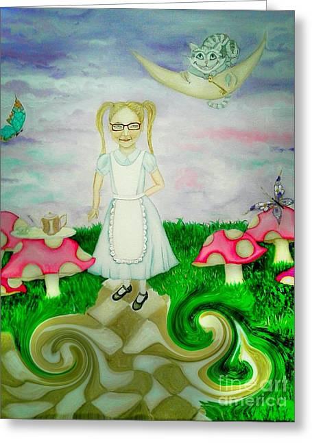 Sweet Dreams In Wonderland Greeting Card
